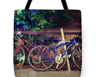 Tote bags for bicycle lovers, Tote bags for hot air balloon fans, unique tote bags, bicycle riders, bicycle fans, womens gifts, mens gifts,