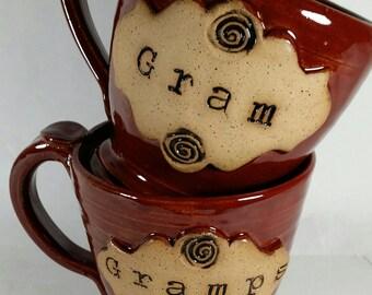Gram and Gramps Mug-Coffee mug-Pottery mugs-Gram-Gramps-Mugs-Coffee mugs