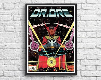 Art-Poster 50 x 70 cm - Dr Dre Comics Super Hero