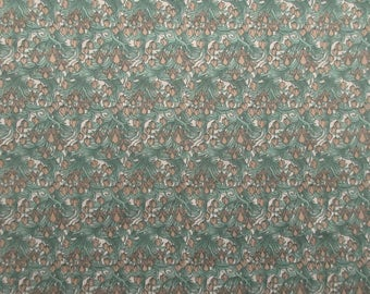 Green Art Nouveau Fabric - Beth Ann Bruske for David Textiles - 100% Cotton - 1 1/3 Yard Only