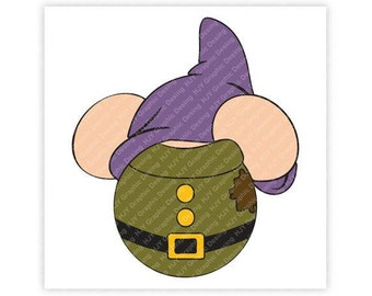 Disney, Dopey, Snow White, Seven, 7, Dwarfs, Mickey, Minnie, Mouse, Head, Ears, Digital, Download, TShirt, Cut File, SVG, Iron on, Transfer