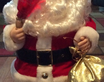 Vintage Telco Santa With Bell Motionette