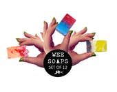 Set of 12 Handmade Wee Mini Guest Soaps 25g x 12 Free Postage Vegan Natural SLS and Paraben Free