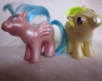 MY LIittle PONY Pearlized Pegasus Baby SURPRISE /Baby Firefly,Pearly Yellow Baby Surprise Pink Baby Firefly,Winged Pegasus Ponies 1984