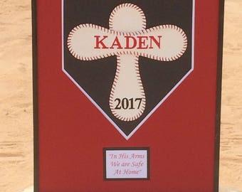 Baseball Cross, team memorabilia, baptism, baseball decor, personalized baseball, ball life, ball trophy, first communion, graduation gift