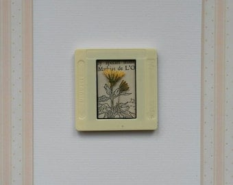 Pressed Flower Handmade Vintage Slide Card