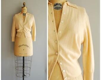 Melba cardigan • 1950s cashmere sweater