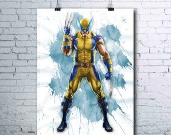 X-MEN Wolverine - Logan - Wolverine Poster - Wolverine Print - Marvel - Superheroes - Wolverine Printables - Wolverine Wall Art