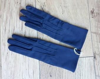 Navy blue vintage Debenhams unworn gloves small size 6.5