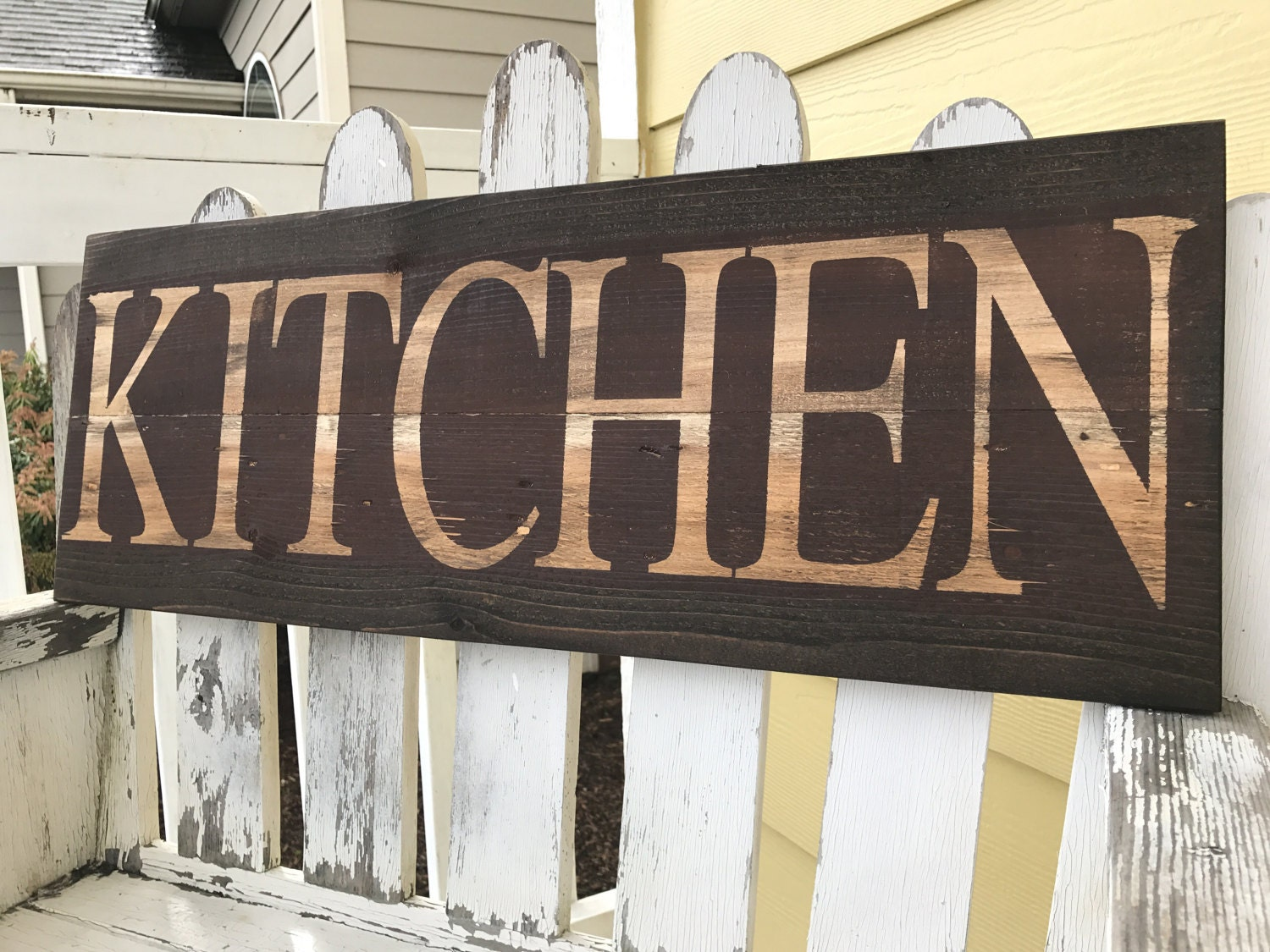 Barn Stars Home Decor Distressed Kitchen Sign Rustic Kitchen Sign Red Kitchen