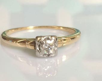 Reserved for Astrid - Art Deco Diamond Ring circa 1925