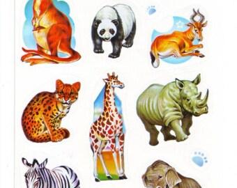 Animal Jungle Mini Stickers Sheet