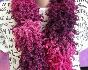 Berry knitting scarf/ Knit women's scarf/ Lariat Crochet Scarf/ Crochet Scarf Jewelry/ Crochet warm scarf/ Knit neck Warm/ Knit tail scarf