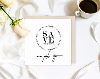Modern Save the Date | Minimalist Wedding Invitation | Wedding Invitation Suite | Invitations Available! | Modern Wedding | Black and White