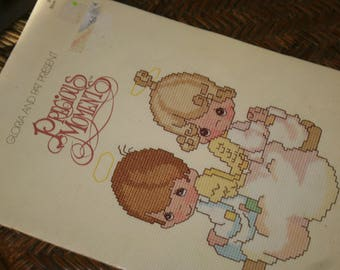 Precious Moments Cross Stitch Booklet by Gloria and Pat / 1980 Sam Butcher / Counted Cross Stitch Patterns