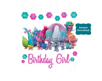 Instant Download, Digital File, Birthday Girl, Digital Image, DIY shirt Printable Iron On Transfer Sticker, Birthday Shirt image