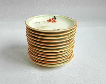 Twelve (12)Vintage Petits Fours Serving Plates, Alfred Meakin,Marigold, Made in England 1950's/1960''s
