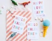 Hello Valentine Classroom Valentines, Customized Kid's Valentine, happy love day, printed or digital pdf