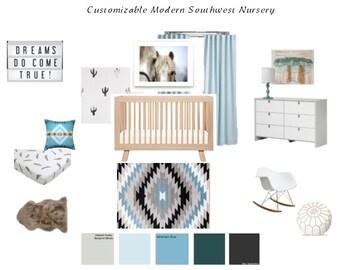 AFFORDABLE e-design services- Customizable Modern Nursery
