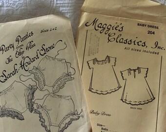 2 Vintage Children's patterns