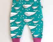 NEW whales baby leggings Baby clothes whales  baby pants organic baby clothes baby shower baby trousers baby pants kids clothes