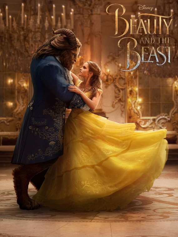 Beauty and the Beast 2017 Disney Movie, Emma Watson Poster Beauty and the Beast Print Emma Watson Poster Movie Art Size 13x20 24x36 32x48 #3