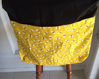 Bumble Bees Library Bag and Chair Bag Combo