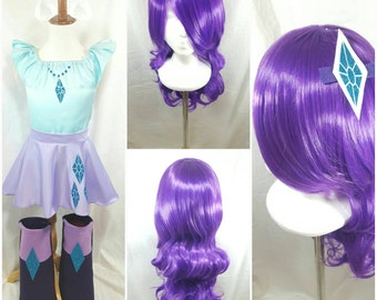 Purple Rarity Inspired Wig Bundle /Hair Clip & Ears