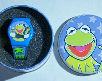 Brand new Kermit the Frog Watch! Digital and in collector's Tin! New!