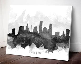 Saint Paul Skyline Canvas Print, Saint Paul Art, Saint Paul Cityscape, Saint Paul Art Print, Home Decor, Gift Idea, USMNSP11C