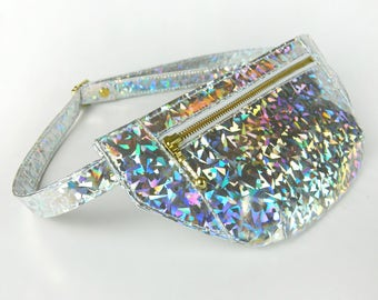 Holographic Fanny Pack, Festival Bag, Waist bag, Bum Bag, Hip Bag,