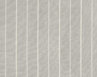 "Custom Stripe Drapes in Richloom ""Fritz"" in Silver or Gray Custom Curtains-Lined, Unlined, Blackout, Sold in Pairs"