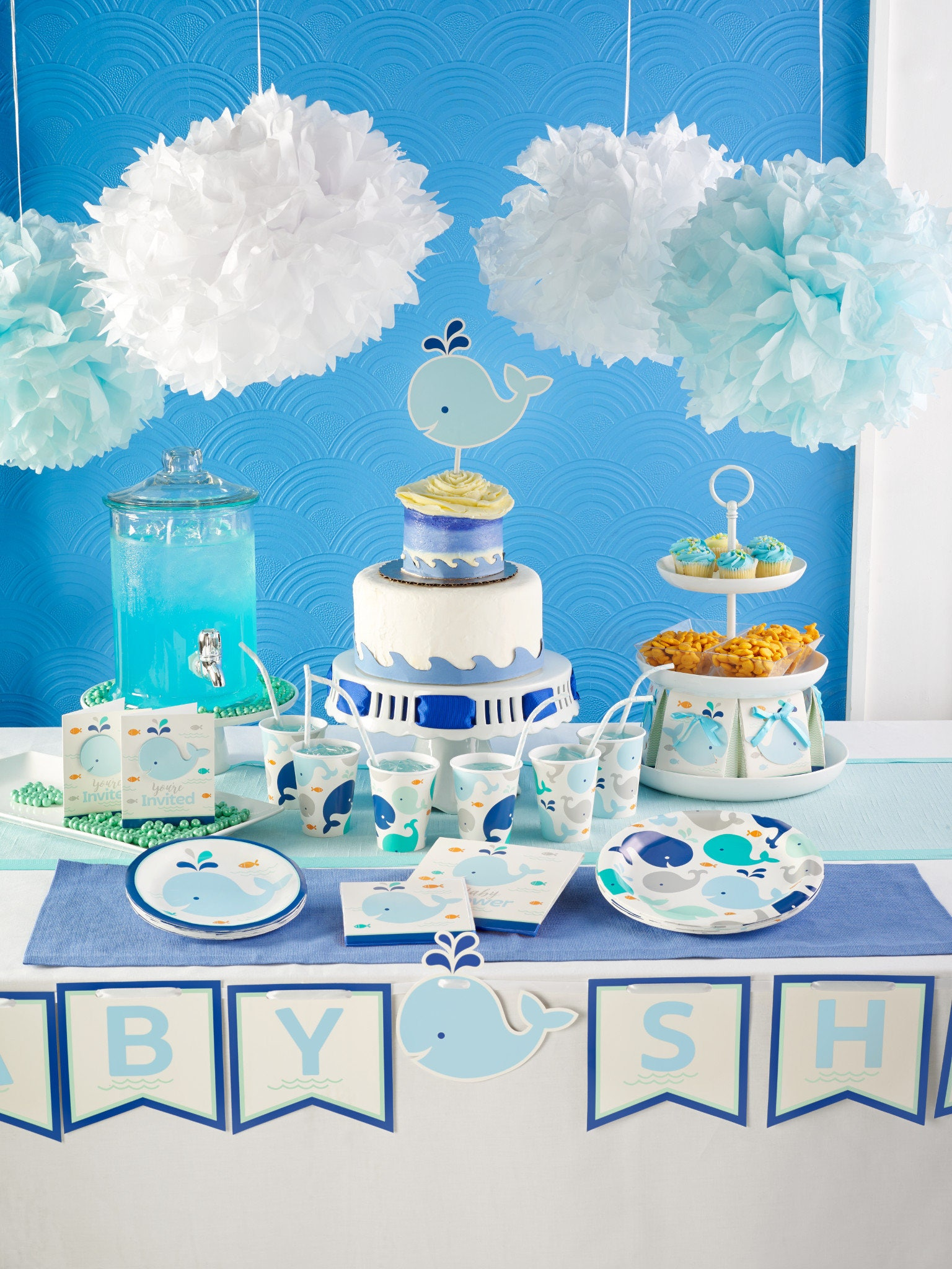 My Whale Party Dessert Plates / Whale Party / Whale Theme Baby .