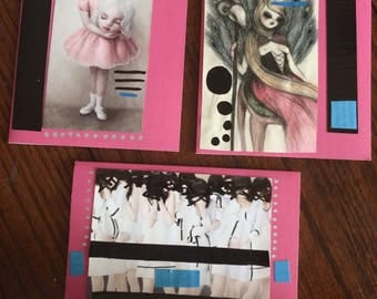 Mixed Media Hand Made Greeting Cards