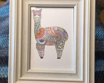 Alpaca Framed Drawing