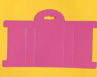 "Pink Headband Paper Display Card 8""x4"" Set of 10"