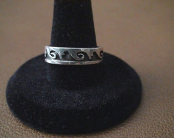Native American Hopi Sterling Silver Ring Size 9.25 Marvin Lucas Aquahyeoma