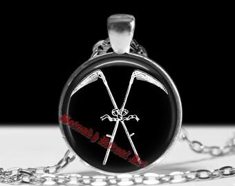 Death Scythe pendant, Reaper necklace, Santa Muerte amulet, Death Reaper, occult, 666, satanism, ritual  talisman, dark sorcery #443