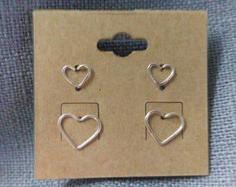 Delicate Heart Stud Set