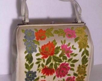 Vintage 60's Carpet Bag