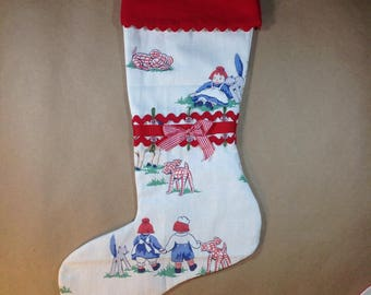 """Stocking """"Raggedy Ann and Andy"""""""