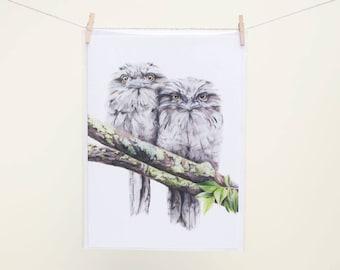 Tawny Frogmouths - Greeting Card - Australian Birds - Wildlife - Owls - Woodland