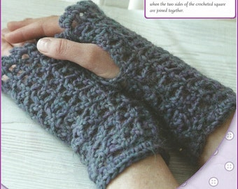 Instant Download - PDF- Pretty Fingerless Gloves/ Wrist Warmers Crochet Pattern (CA10)