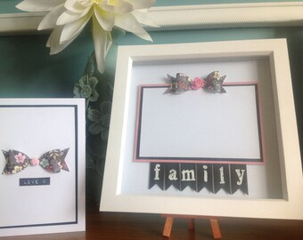 Family photo frame with free greeting card