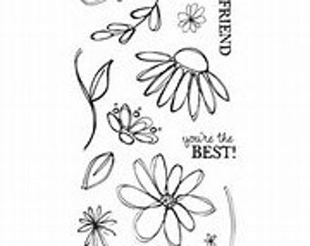 """Fiskars """"Petals from Scratch"""" Clear stamps"""