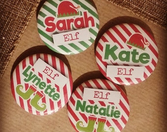 Personalised Elf Badges