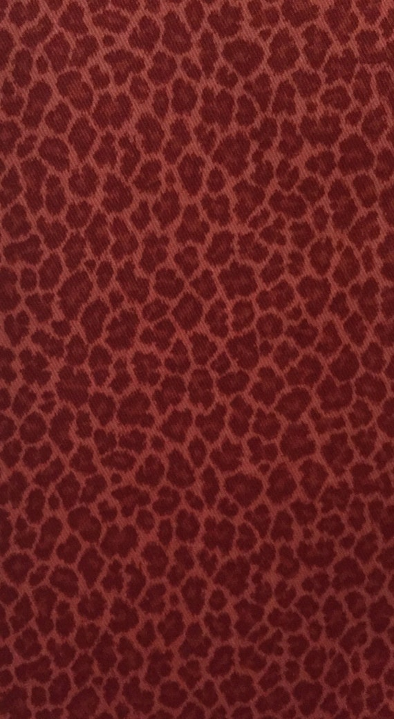 Small Red Leopard Print Fabric Animal Print Upholstery