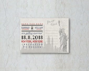 New York Save the Date Card or Magnet
