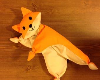 newborn toy nursery toy fox toy waldorf doll Baby First Toy comforter Baby teething toy Organic plush toy crib toys soft toy fox cuddly toy