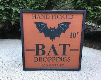 Halloween, Sign, Wood, Bat, Signs, Primitive, Rustic, Black Cat, Organic, Signs, Black Cat, witch, Bats, Primitive Sign, Halloween Sign
